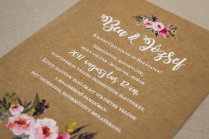 UV nyomtatott esküvői meghívó